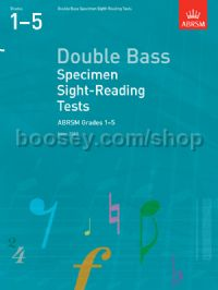 Double Bass Specimen Sight-Reading Tests, ABRSM Grades 1–5