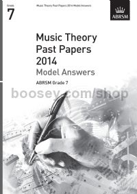 Music Theory Past Papers 2014 Model Answers, ABRSM Grade 7
