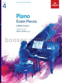 Piano Exam Pieces 2017 & 2018, ABRSM Grade 4
