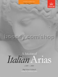 A Selection of Italian Arias 1600-1800, Volume I (High Voice)
