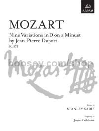 Nine Variations in D on a Minuet by Jean-Pierre Duport, K. 573