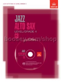 Jazz Alto Sax CD Level/Grade 4
