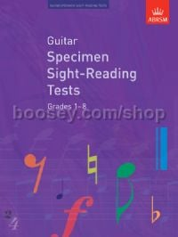 Guitar Specimen Sight-Reading Tests, Grades 1–8