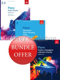 ABRSM Piano Exams 2017-2018 Grade 2 Bundle Offer (Book & CD) - Save 10%