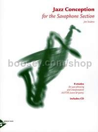 Jazz Conception - 5 saxophones (AATTBar); rhythm section optional (score & parts with CD)