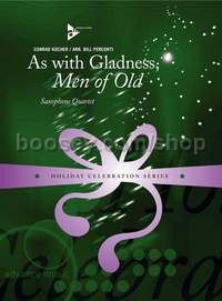 As with Gladness, Men of Old - 4 saxophones (SATBar) (score & parts)