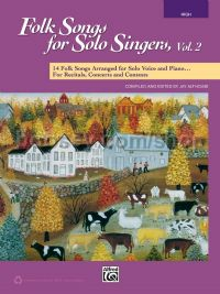 Folk Songs for Solo Singers, Vol. 2 (High Voice - Book & CD)