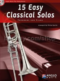15 Easy Classical Solos - Trombone (Book & CD)