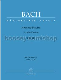 St. John Passion BWV245 (Vocal Score)