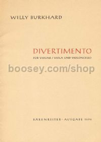 Divertimento for String Trio, Op.95 (Parts)