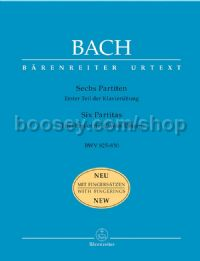 Six Partitas BWV 825-830 for Piano/Harpsichord with Fingerings