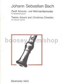 Twelve Advent and Christmas Chorales for Recorder Quartet