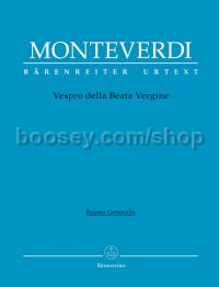 "Vespro della Beata Vergine ""Marienvesper"" (cello and bass)"