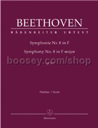 Symphony No. 8 in F major op. 93 (Full Score: Urtext Edition)