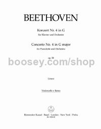 Concerto No. 4 for Pianoforte and Orchestra in G major, op. 58 - cello/bass part