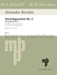 String Quartet No. 2 in D major (set of parts)