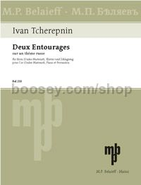 2 Entourages - horn (Ondes Martenot), piano, percussion (score & parts)