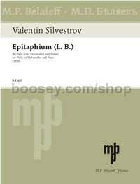 Epitaphium (L. B.) - viola (cello) & piano