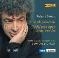 "An Alpine Symphony Op 64 (""Eine Alpensinfonie"") etc. (Profil Super-Audio CD)"