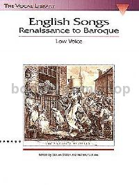 English Songs: Renaissance to Baroque (Low Voice)