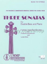 Three Sonatas for double bass & piano (trans. Drew)