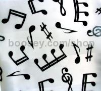 Ladies Scarf - Musical Symbols Design