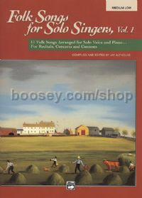 Folk Songs for Solo Singers 1 Medium/Low (Book & CD)