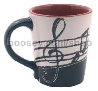 Latte Mug 12Oz - Music Notes