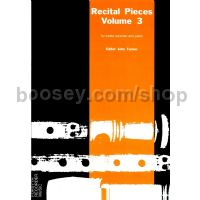 Recital Pieces, Vol. 3 for Treble Recorder & Piano