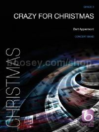 Crazy for Christmas for concert band (score & parts)