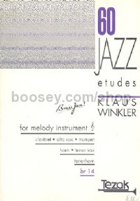 60 Jazz Etudes - for melody instrument (clarinet, sax., trumpet, tenorhorn, horn)