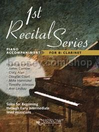 1st Recital Series for Bb Clarinet (Piano accompaniment)