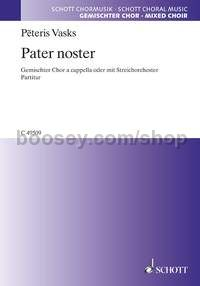Pater noster (choral score)