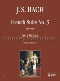 French Suite No. 5 BWV 816 for 2 Guitars (score & parts)