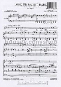 Look Up Sweet Babe (SATB)