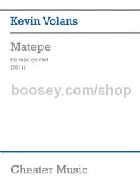 Matepe For Reed Quintet (Score & Parts)