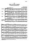 "Lover's Ghost (from ""Five English Folk Songs"") SATB"
