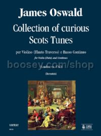 Collection of curious Scots Tunes (London c.1742) for Violin (Flute) & Continuo (score & parts)