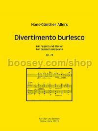 Divertiemento burlesco op. 78 for bassoon & piano