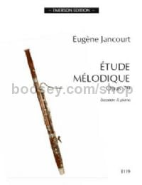 Etude Mélodique  for bassoon & piano