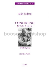 Concertino for Tuba and Strings (score)