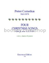 Four Christmas Songs from Op.8  for voice, clarinet & piano