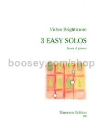 Three Easy Solos  for horn & piano