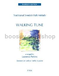 Walking Tune Swedish Folk Tune  for solo instrument & piano