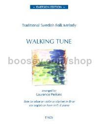 Walking Tune (Swedish folk melody) - melody instrument & piano