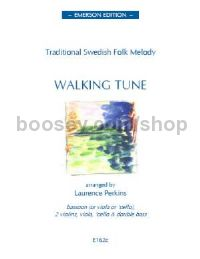 Walking Tune Swedish Folk Tune for solo intstrument, 2 violins, viola, cello, double bass (score & p