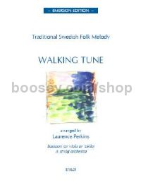 Walking Tune Swedish Folk Tune for solo instrument, strings (score & parts)