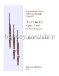 Trio Op.17 No.2 for 3 bassoons