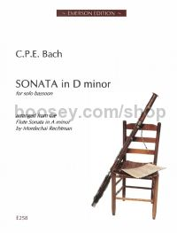 Sonata In Dmin Arr. Solo Bassoon