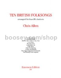 Ten British Folksongs for 4 clarinets